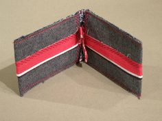 Denim business/credit card holder with Cotton trim (View 2)