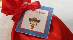 PARTY PACK Sets of 6 to 12 - Cowgirl Red Favor Bags (Filled) by TeatotsPartyPlanning on Etsy