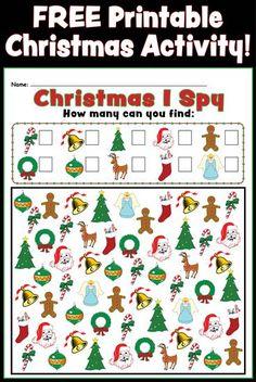 Free Christmas I Spy Printable - FUN printable to keep the ...