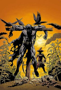 Scarecrow vs Batman. The Batman has suddenly become the Crow...