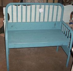 Crib Bench...someone found a use for the cribs that are no longer safe for babies!