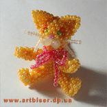 Ginger cat (pattern beaded)