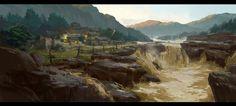 Yellow River, Dawn Pu on ArtStation at https://www.artstation.com/artwork/yellow-river-2cf10b39-d3bb-467e-8c93-4c4e313c10f8