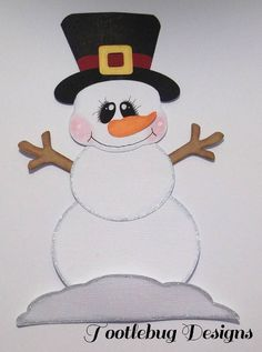 TOOTLEBUG DESIGNS - Snowman paper piecing for scrapbook page