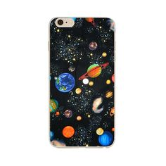 Airship Astronaut Stars Case Cover For Apple iPhone 6 6S Silicone Moon Night Case High tech cosmic picture Design Phone Case