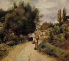 On The Banks Of The River by Pierre Auguste Renoir Handmade oil painting reproduction on canvas for sale,We can offer Framed art,Wall Art,Gallery Wrap and Stretched Canvas,Choose from multiple sizes and frames at discount price. Pierre Auguste Renoir, Renoir Paintings, Landscape Paintings, Oil Paintings, Landscape Art, Oil Painting On Canvas, Canvas Art Prints, Art Through The Ages, Oil Painting Reproductions