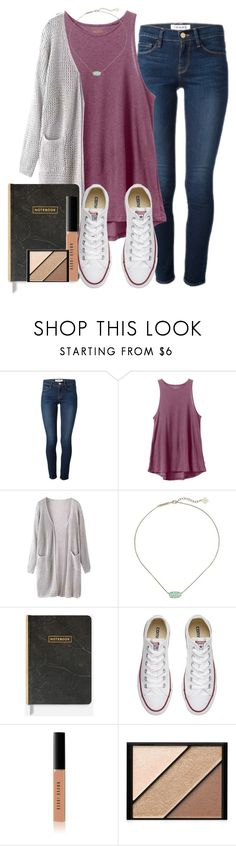 """""""Untitled #101"""" by wander-krn ❤ liked on Polyvore featuring Frame, RVCA, Kendra Scott, Converse, Bobbi Brown Cosmetics and Elizabeth Arden"""
