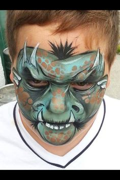 In love with this Monster face paint