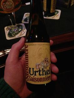 Every once in a while you get a pleasant surprise. Like when you come home and find out your dog didn't poop inside the house. Urthel Saisonnière is like that dog. Just looking at the label, you don't expect much. A gnome with an abnormally big nose. But then... Surprisingly bitter and surprisingly fresh. Wow! I immediately ordered another surprise. I advice you to do the same. Saisonnière. Remember that name. (Urthel Brewery, Ruiselede, Belgium) (6.0% vol.)
