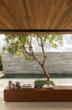 Zen House, Cozy House, Rio Grande, Pergola, Travertine, Natural Texture, House Tours, Natural Stones, Design Inspiration