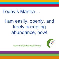 Get positive daily mantras delivered right to your inbox for free. Start your day with The Mind Aware and get your Daily Mantras flowing! Wealth Affirmations, Law Of Attraction Affirmations, Positive Affirmations, Positive Mindset, Positive Quotes, Abundance Quotes, Spiritual Prayers, Daily Mantra, Affirmation Quotes