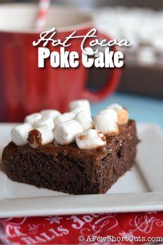 Deliciously simple Hot Cocoa Poke Cake Recipe