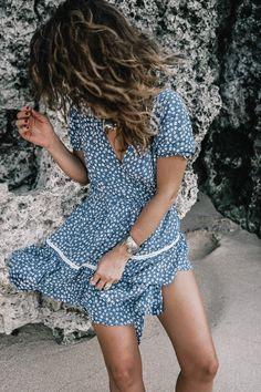 Bingin Beach | Collage Vintage | Faithfull dress