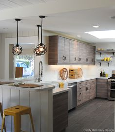 Rough Luxe Lifestyle Kitchen with Ikea Cabinetry