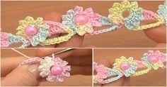 Crochet Flower Cord - http://crochetblog.net/crochet-flower-cord/