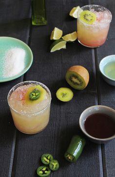 Kiwi Jalapeño Margarita - #recipe at cali-zona.com