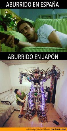 Aburrido en España y aburrido en Japón.