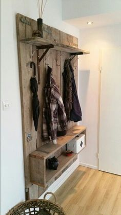 Purchase Or Make Woodworking Jigs Purchase Or Make Woodworking Jigs Wooden Pallet Projects, Diy Pallet Furniture, Hallway Storage, Woodworking Jigs, Woodworking Supplies, Home Organization, Home Projects, Diy Home Decor, Sweet Home