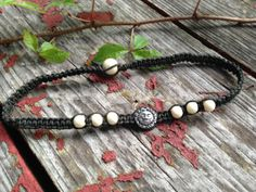 Reversible Sun/Moon Organic Hemp Choker NecklaceBlack by TheSunLab, $17.00