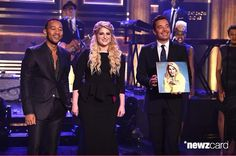 """Meghan with John Legend after performing her hit """"LIGLY"""" on Jimmy Fallon last night"""