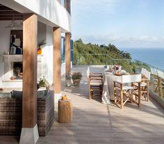 Porches, Outdoor Decor, Home Decor, Gardens, Slate Tiles, Pebble Floor, Natural Stone Flooring, Outdoor Flooring, Outdoor Patios