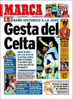 Portada da prensa estatal despois do 4-0 a Juventus