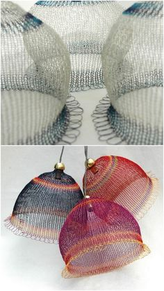 Parlour: Crocheted Wire how clever these would be as lampshades!