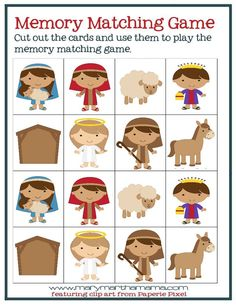 Christmas Worksheets for Preschoolers [Jesus' Birth] – Mary Martha Mama - 3 year old classroom Preschool Bible, Preschool Games, Preschool Worksheets, Toddler Preschool, Christmas Stories For Kids, Toddler Christmas, Christmas Ideas, Sunday School Games, Sunday School Lessons