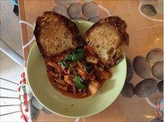 #ricetta regione #puglia, #moscardini in umido con #pane #tostato