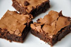 The perfect solution to a rainy day like we are enjoying here in Southern California: The Best Dark Chocolate Brownie