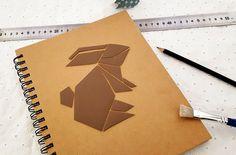 Carnet origami et cuir DIY (Laaaaaapin!
