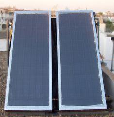 Calentador solar de agua casero de Pedro Reina