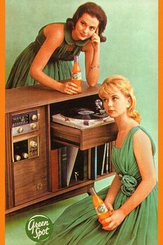 Remember ladies:  Coordinate your fashions to match the wall-covering, and play the music - not just sit near it.