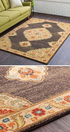 Heavy Woven Rug Large Modern Mat Chequered Pattern Beige Terracotta New Carpet