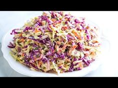 How to make our seriously good homemade coleslaw recipe. Apple cider vinegar and mustard makes our slaw anything but dull. With recipe video!
