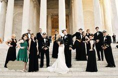 The wedding party! Nancy & Matt's Washington, DC wedding by Charlotte Jarrett Events