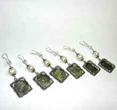 Pearl wedding bouquet photo charms. Set of 6. by SmilingBlueDog, $52.80