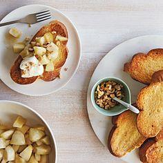 The Best Ways to Top Toast   Roasted Apple-Honey Toast   MyRecipes.com