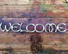 Welcome Horseshoe sign by RedGateFarm1 on Etsy