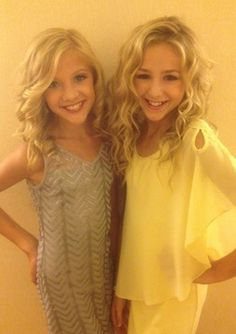 Chloe and paige from dance moms wearing sally miller  couture to the Teen choice awards