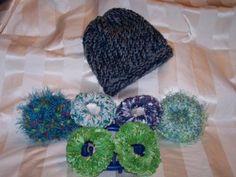 Loom knit scrunchie pattern