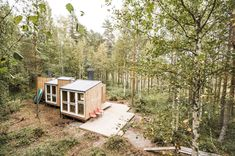"""""""The house is staggered so that you get a different view from each window,"""" says Becker. #dwell #finland #scandinaviandesign #moderncabin"""