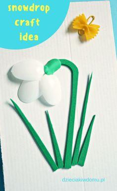 przebiśnieg - wiosenna praca dla dzieci / snowdrop craft idea for kids #springcrafts #kidscrafts