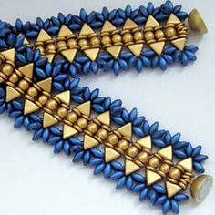 Materials for Bracelet Kheopatra Pattern: 8 grams (approximately 46) Kheops Par Puca Triangle 15 grams SuperDuos 10 grams O-Beads (Ring beads can be substituted) 44 - 4mm Round Beads clasp choice of stringing material