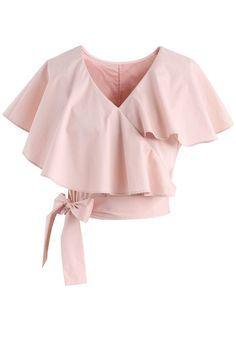 Appealing Sweet Frilling Crop Top in Pink pink XS Appealing Sweet Frilling Crop Top in Pink - New Arrivals - Retro, Indie and Unique Fashion Girls Fashion Clothes, Teen Fashion Outfits, Trendy Outfits, Girl Fashion, Fashion Dresses, Unique Fashion, Trendy Fashion, Frill Tops, Mode Chic