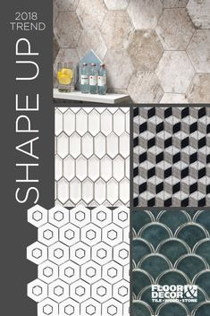 Get your walls in shape this year. Geometric shapes like cubes and hexagons create a 3D effect that jumps off the walls. Pickets will take modern and contemporary to a new level, and scallop shapes capture a natural and organic feeling that soothes and calms. For more trend inspiration visit the link for our Trend Preview catalog.