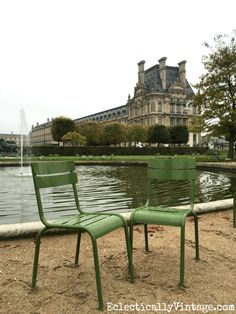 Tuileries Garden - a great place to stroll and relax in Paris. Love all the tips on what to see and do in Paris eclecticallyvintage.com