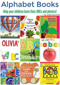 ABC Alphabet Books for Kids are a terrific way to teach your children the alphabet as well as the beginning phonics to set the stage for when they begin reading as well as teach phonics | The Jenny Evolution