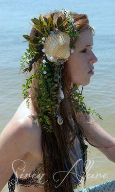 Mermaid Shell Head Piece by SirenAllure on Etsy, $65.00