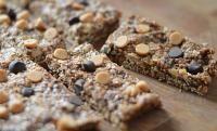 Double Chocolate Peanut Butter Granola Bars